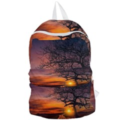Lonely Tree Sunset Wallpaper Foldable Lightweight Backpack