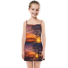 Lonely Tree Sunset Wallpaper Kids Summer Sun Dress