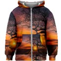 Lonely Tree Sunset Wallpaper Kids Zipper Hoodie Without Drawstring View1