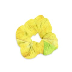 Green Yellow Leaf Texture Leaves Velvet Scrunchie