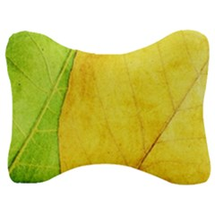 Green Yellow Leaf Texture Leaves Velour Seat Head Rest Cushion