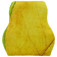 Green Yellow Leaf Texture Leaves Car Seat Velour Cushion  by Alisyart
