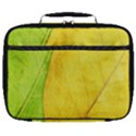 Green Yellow Leaf Texture Leaves Full Print Lunch Bag View1
