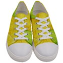 Green Yellow Leaf Texture Leaves Women s Low Top Canvas Sneakers View1