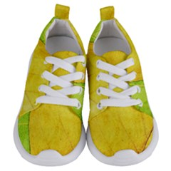 Green Yellow Leaf Texture Leaves Kids  Lightweight Sports Shoes