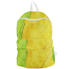 Green Yellow Leaf Texture Leaves Foldable Lightweight Backpack