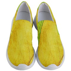 Green Yellow Leaf Texture Leaves Women s Lightweight Slip Ons