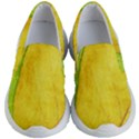Green Yellow Leaf Texture Leaves Kid s Lightweight Slip Ons View1
