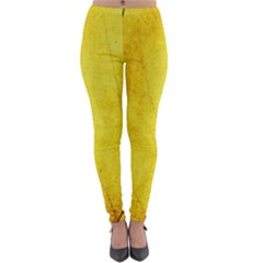 Green Yellow Leaf Texture Leaves Lightweight Velour Leggings