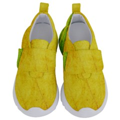 Green Yellow Leaf Texture Leaves Velcro Strap Shoes