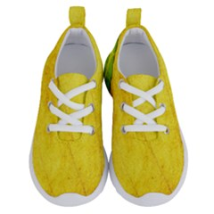 Green Yellow Leaf Texture Leaves Running Shoes