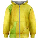 Green Yellow Leaf Texture Leaves Kids Zipper Hoodie Without Drawstring View1