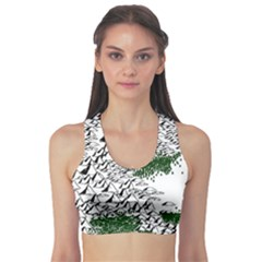 Montains Hills Green Forests Sports Bra by Alisyart