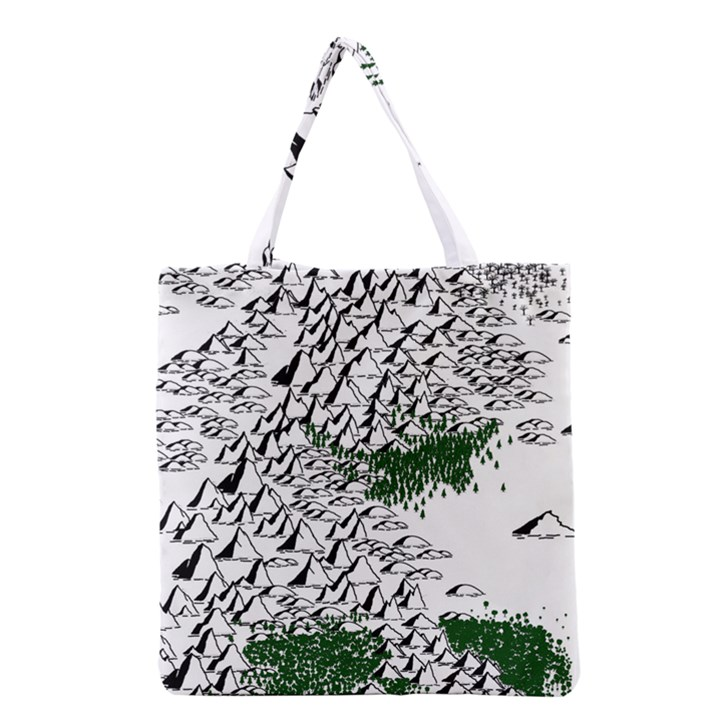 Montains Hills Green Forests Grocery Tote Bag