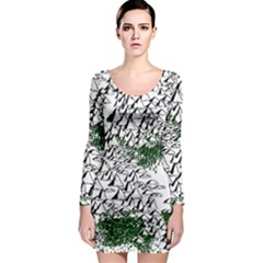Montains Hills Green Forests Long Sleeve Bodycon Dress by Alisyart