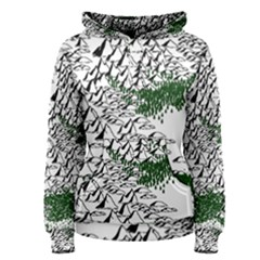Montains Hills Green Forests Women s Pullover Hoodie