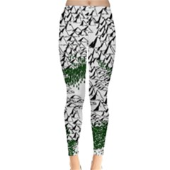 Montains Hills Green Forests Classic Winter Leggings by Alisyart