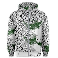 Montains Hills Green Forests Men s Zipper Hoodie