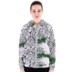 Montains Hills Green Forests Women s Zipper Hoodie by Alisyart