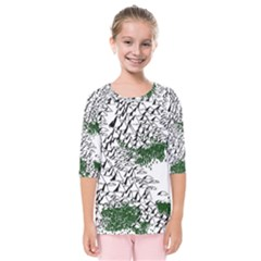 Montains Hills Green Forests Kids  Quarter Sleeve Raglan Tee