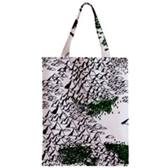 Montains Hills Green Forests Zipper Classic Tote Bag