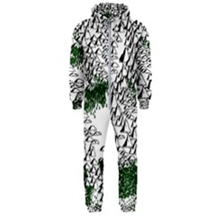 Montains Hills Green Forests Hooded Jumpsuit (men)
