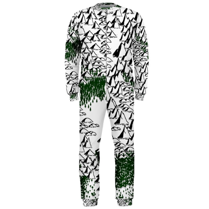 Montains Hills Green Forests OnePiece Jumpsuit (Men)