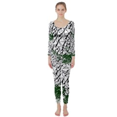 Montains Hills Green Forests Long Sleeve Catsuit