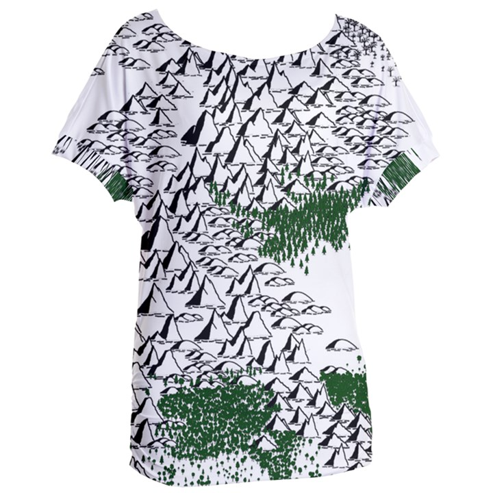 Montains Hills Green Forests Women s Oversized Tee