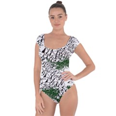 Montains Hills Green Forests Short Sleeve Leotard
