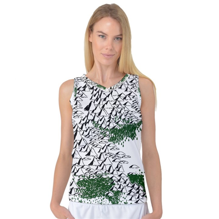 Montains Hills Green Forests Women s Basketball Tank Top