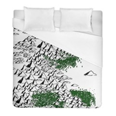 Montains Hills Green Forests Duvet Cover (full/ Double Size)