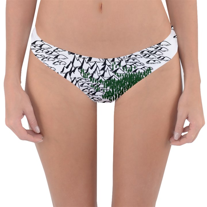 Montains Hills Green Forests Reversible Hipster Bikini Bottoms