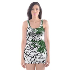 Montains Hills Green Forests Skater Dress Swimsuit