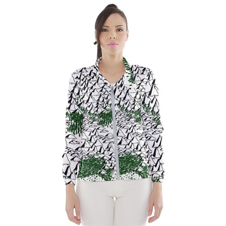 Montains Hills Green Forests Windbreaker (Women)