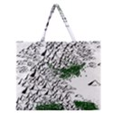 Montains Hills Green Forests Zipper Large Tote Bag View1