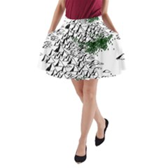 Montains Hills Green Forests A Line Pocket Skirt