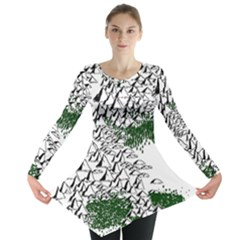 Montains Hills Green Forests Long Sleeve Tunic