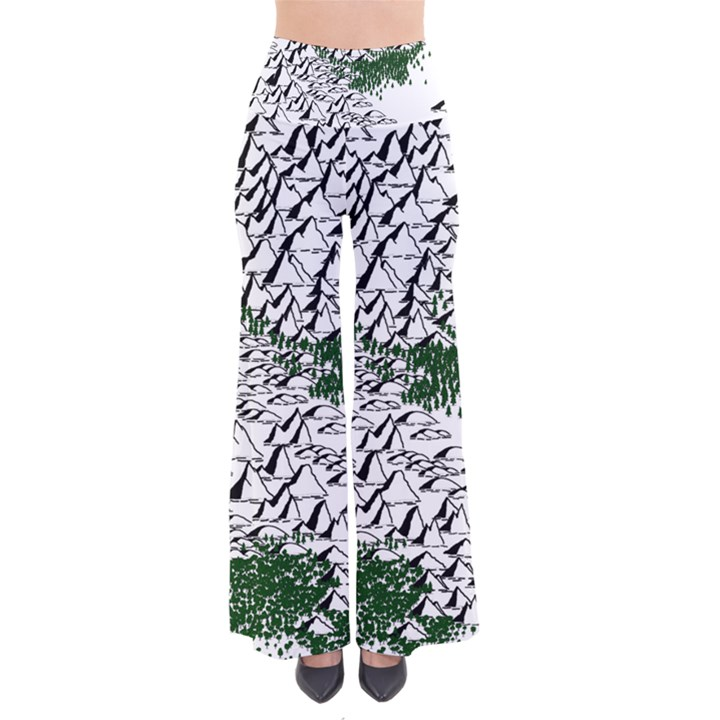 Montains Hills Green Forests So Vintage Palazzo Pants