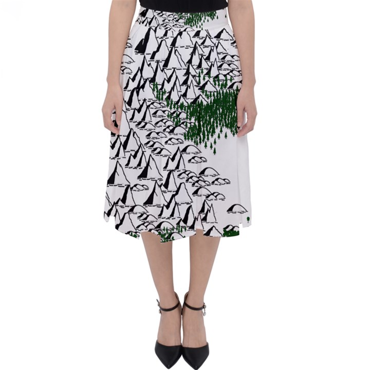 Montains Hills Green Forests Classic Midi Skirt