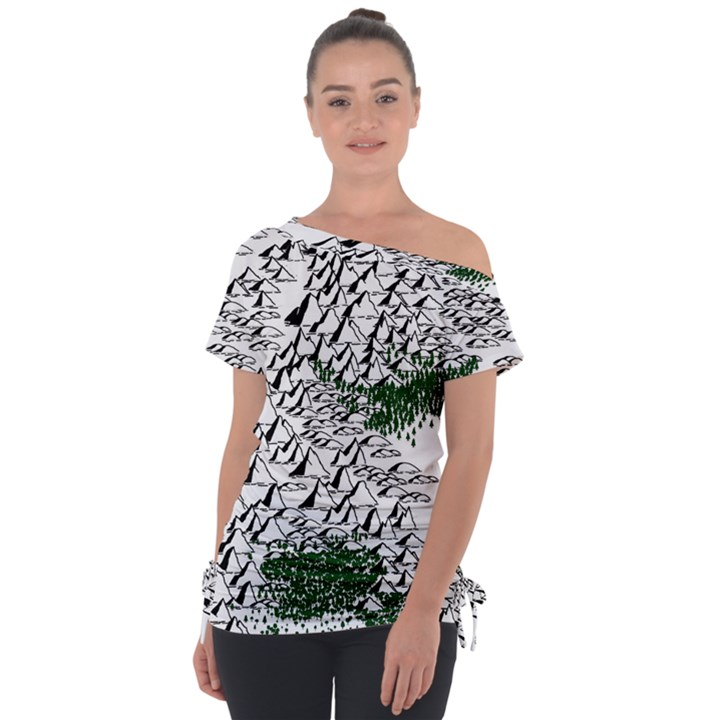 Montains Hills Green Forests Tie-Up Tee