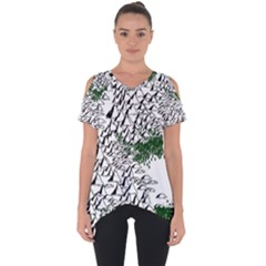 Montains Hills Green Forests Cut Out Side Drop Tee
