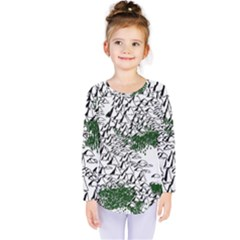 Montains Hills Green Forests Kids  Long Sleeve Tee