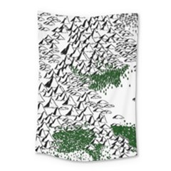 Montains Hills Green Forests Small Tapestry