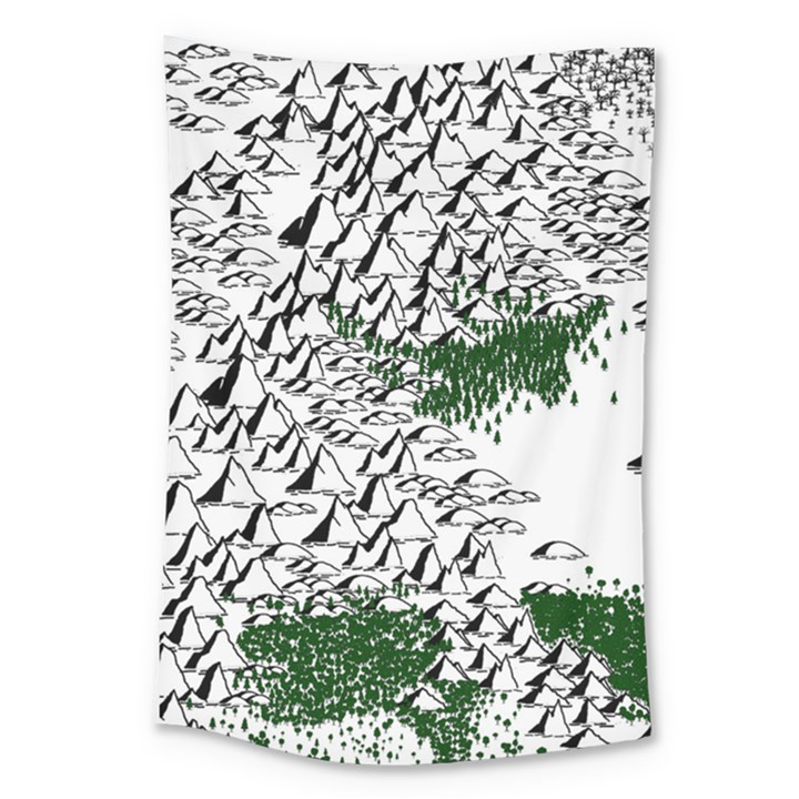 Montains Hills Green Forests Large Tapestry
