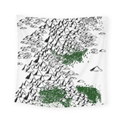 Montains Hills Green Forests Square Tapestry (small)