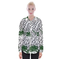 Montains Hills Green Forests Womens Long Sleeve Shirt