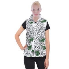 Montains Hills Green Forests Women s Button Up Vest