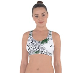 Montains Hills Green Forests Cross String Back Sports Bra