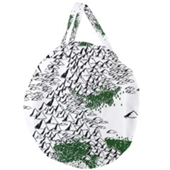 Montains Hills Green Forests Giant Round Zipper Tote